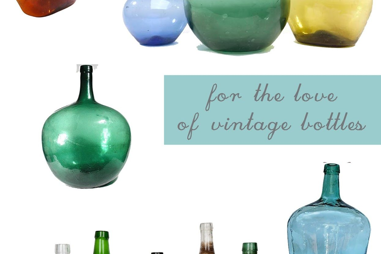 How to decorate with Vintage bottles