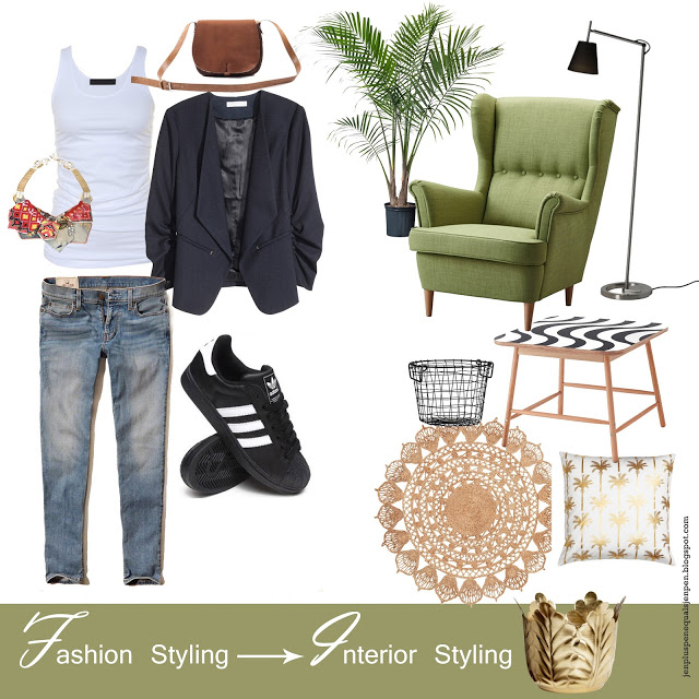 Fashion Styling to Interior Styling : Cool to Green